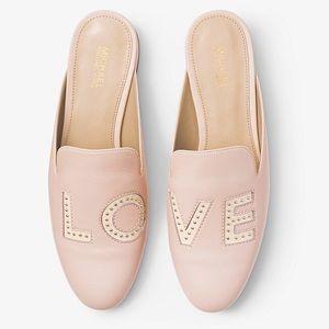 Michael Kors Natasha Love Leather Slide